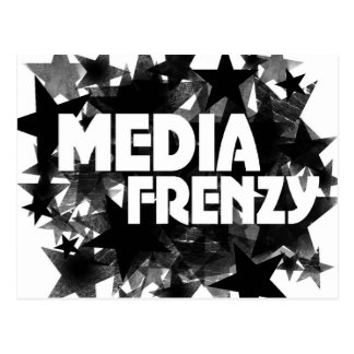 Media Frenzy Postcard