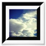 Media frontera diagonal blanco y negro impresiones fotograficas