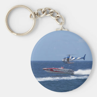 Media Helicopter Basic Round Button Keychain