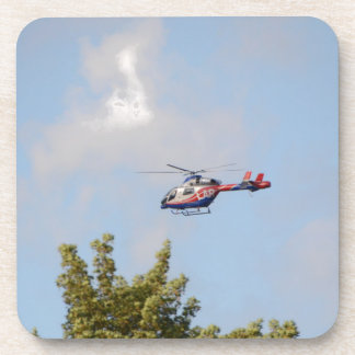 Media Helicopter Beverage Coaster