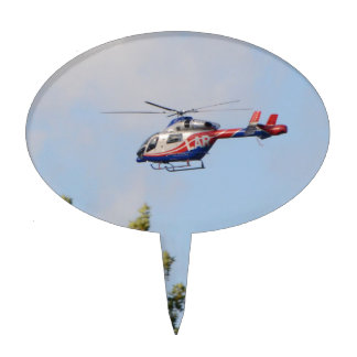 Media Helicopter Cake Topper