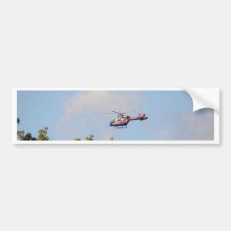 Media Helicopter Car Bumper Sticker