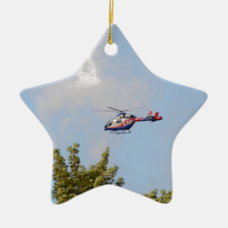 Media Helicopter Ceramic Ornament