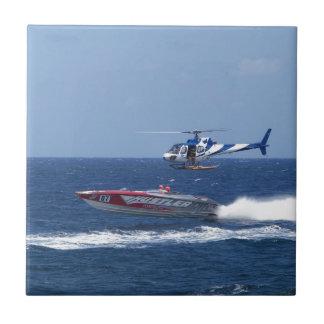 Media Helicopter Ceramic Tile