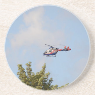 Media Helicopter Drink Coaster