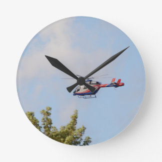 Media Helicopter Round Clock