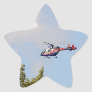 Media Helicopter Star Sticker