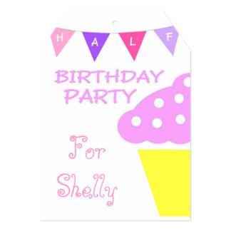 Media invitación de la fiesta de cumpleaños de la invitación 12,7 x 17,8 cm