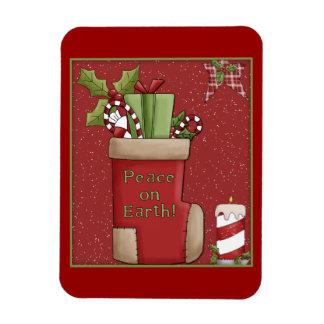 Media llenada del regalo y del caramelo iman rectangular