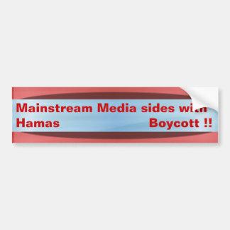 Media loves Hamas Bumper Sticker