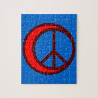 Media luna paz crescent peace puzzle