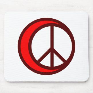 Media luna paz crescent peace tapetes de raton