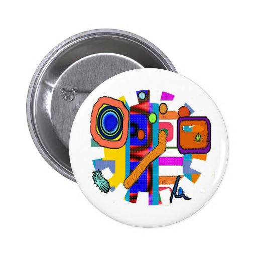 Media Man Design by Artist, Ralph McKnight 2 Inch Round Button