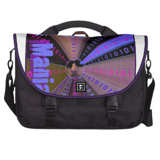 MEDIA MANIA Graphic s Line Laptop Commuter Bag