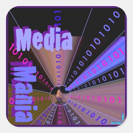 MEDIA MANIA Graphic's Line Square Sticker