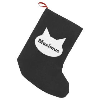 Media personalizada gato moderno del mascota - calcetín navideño pequeño