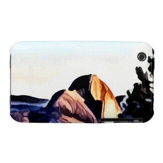 Media pintura de las montañas de la bóveda iPhone 3 Case-Mate protector