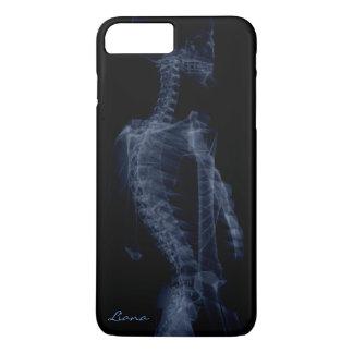 Media radiografía estilizada del cuerpo funda iPhone 7 plus