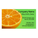 Media rebanada de la fruta anaranjada plantilla de tarjeta de visita