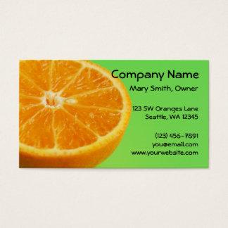 Media rebanada de la fruta anaranjada tarjeta de negocios