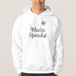 Media Specialist Womens Hooded Shirt