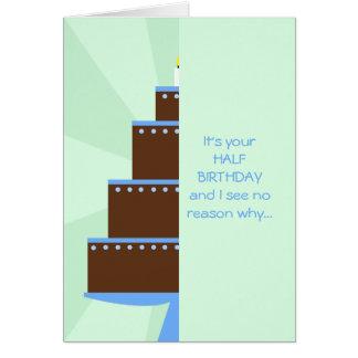 Media tarjeta de cumpleaños -- Media torta de cump