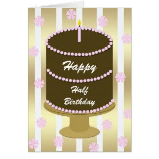 Media tarjeta de cumpleaños -- Torta de cumpleaños