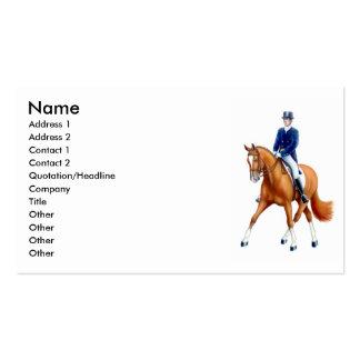 Media tarjeta de visita del caballo del paso del D