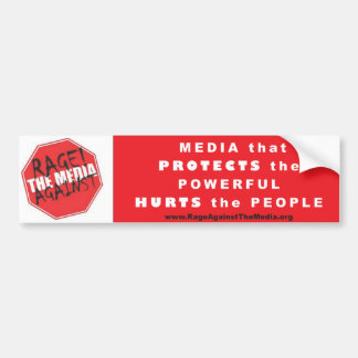Media that Protects the Powerful bumper sticker--W Car Bumper Sticker