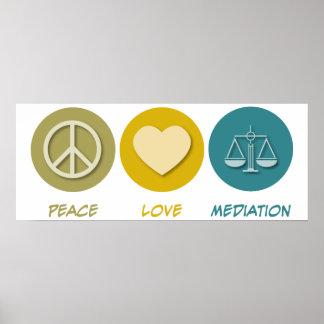Mediación del amor de la paz póster