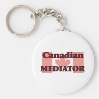 Mediador canadiense llavero redondo tipo pin