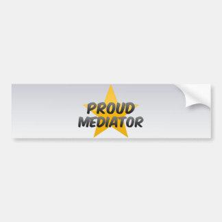 Mediador orgulloso pegatina de parachoque