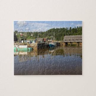 Mediados de marea en la bahía de Fundy en St Marti Rompecabezas Con Fotos