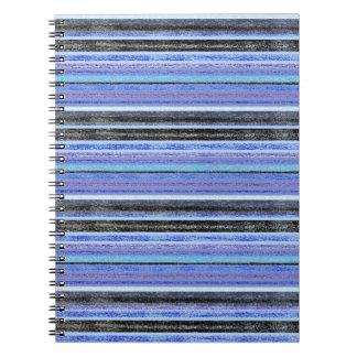 Mediados de raya multi azul de Ombre Cuadernos
