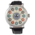 mediados de siglo atómicos retros de 50s Starburst Relojes