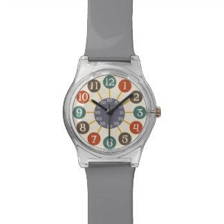 mediados de siglo atómicos retros de 50s Starburst Relojes De Pulsera