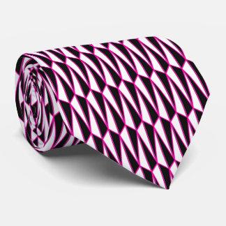Mediados de siglo geométricos, negro, blanco, corbata