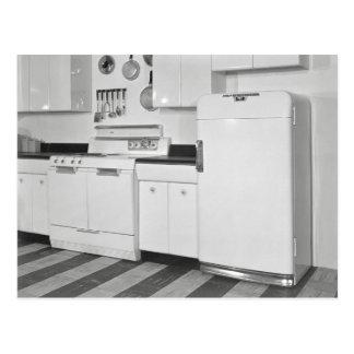 Mediados de siglo Kitchen, 1951 Postal