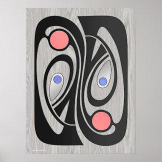 Mediados de siglo MashUp 18x24 de Nouveau del arte Impresiones