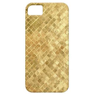 Mediados de textura del oro de los años 50 del funda para iPhone 5 barely there