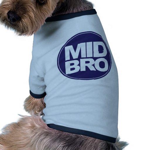 mediados de verde del bro del ecircle camiseta con mangas para perro
