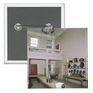 Mediados del siglo XVIII del interior de la cocina Pin Cuadrada 5 Cm