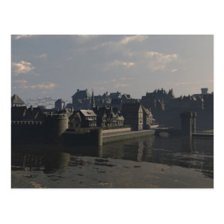Mediaeval City Water Gate Postcard