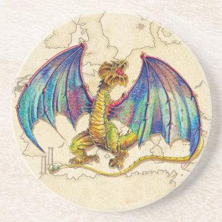 Mediaeval Wyvern Drink Coasters