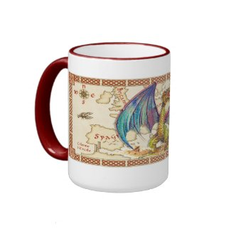 Mediaeval Wyvern mug