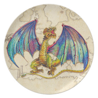 Mediaeval Wyvern Party Plate