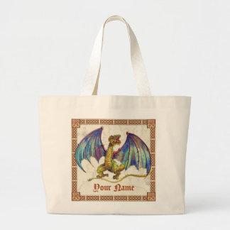Mediaeval Wyvern, Your Name Canvas Bag