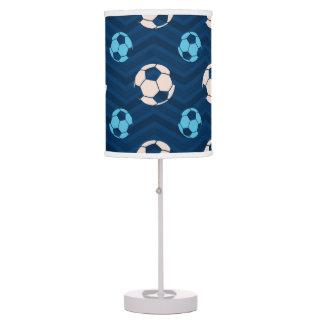 Medianoche, azul de cielo, moreno, balón de fútbol lámpara de escritorio