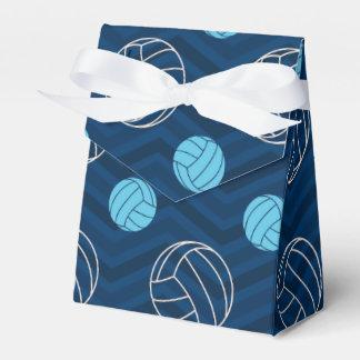 Medianoche, azul de cielo, moreno, voleibol caja para regalos de fiestas