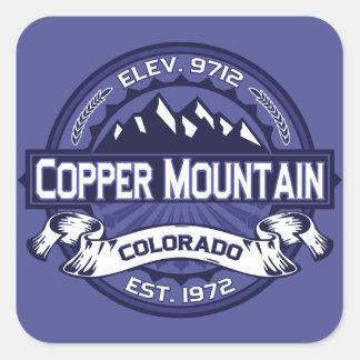 Medianoche de cobre de la montaña pegatina cuadrada